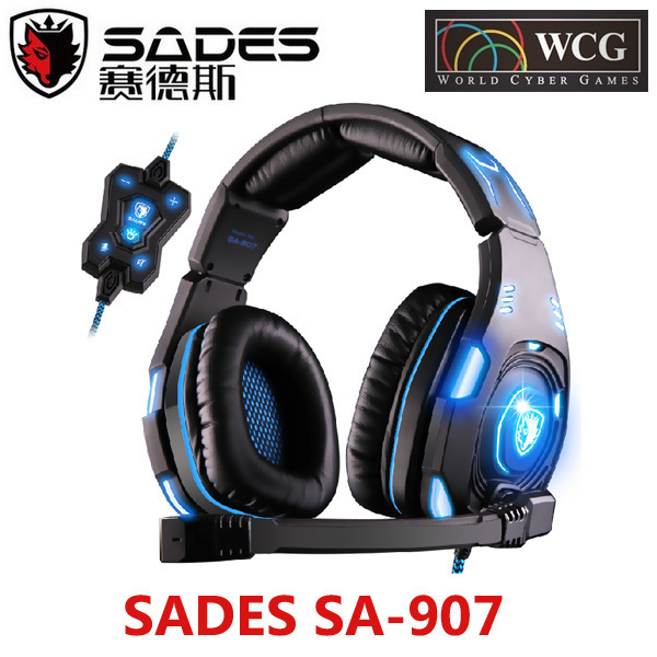 Original SADES SA-907 Game Headset Studio Headphone With Microphone Game Earphones Voice Headset With Mic For PC Game<br><br>Aliexpress