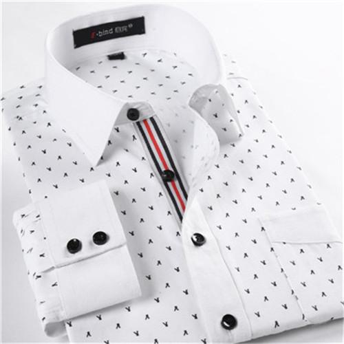 Slim fit men shirt Mens floral shirts fashion 2015 long sleeve dress shirts famous brand 4xl casual shirtfree shipping(China (Mainland))