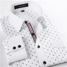 Slim fit men shirt  Mens floral shirts fashion 2016  long sleeve dress shirts famous brand  4xl casual shirt(China (Mainland))