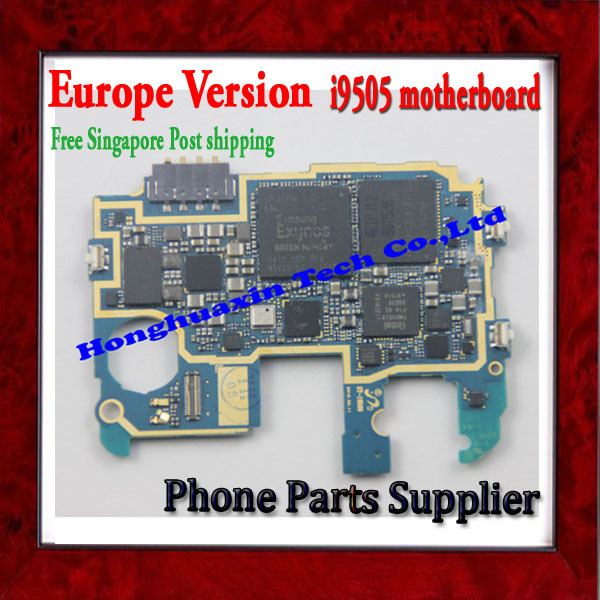 100% Original & Europe Version Unlocked Motherboard For Samsung Galaxy S4 i9505 Motherboard with Chip Free Shipping