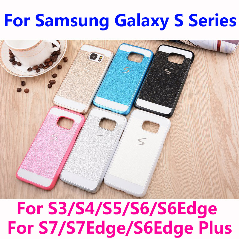 Bling Phone Case Shinning Luxury Cover for Samsung Galaxy S Series S3 S4 S5 S6 S7 S6 Edge S7Edge back cover Sparkling case G920(China (Mainland))