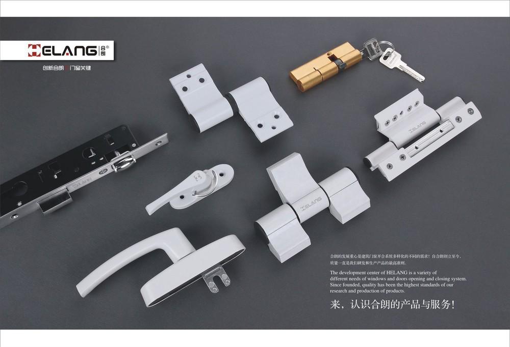 Long supply aluminum hinge together , European multi-point locking handle aluminum doors and windows broken bridge hinge fitting(China (Mainland))