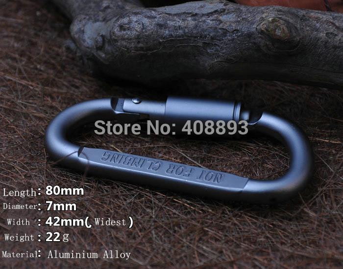 J Q Outdoor Tools Aluminium Alloy Multi fushional Climbing Hiking Camping Stuffs Clasp Mosquetao Paracord Carabiner