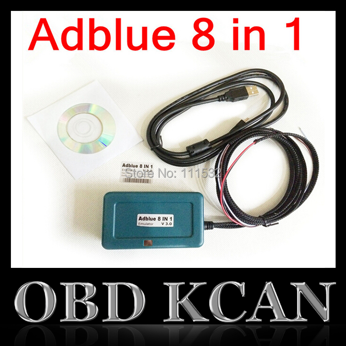 New Trucks Nox adblue ADBLUE EMULATOR 8IN1 For Mercedes Volvo Renault Scania Iveco DAF MAN and F-ord AdBlue Emulator 8 IN 1(China (Mainland))