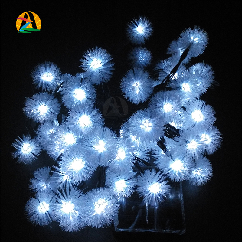 Novelty Solar Snow Flakes LED Lamps Snowball String Lights for Holidays Wedding Parties Events Xmas Easter Christmas Decoration(China (Mainland))