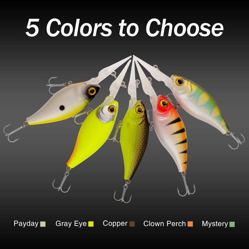 Miga Tug 110mm 20g Crankbait Top Quality Fishing Lures Fishing Tackle 5 pieces Minnow fishing bait Hook Soft Bait(China (Mainland))