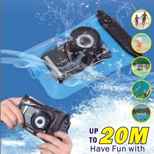 Free Shipping 20M Waterproof Digital Camera Case For Nikon / Canon / Sony / OLYMPUS Underwater Dry Bag Pouch Outdoor equipment(China (Mainland))