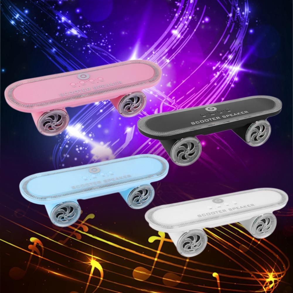 Hot Cool LED Skateboard Scooter Bluetooth Wireless LED Speaker TF USB Slot Wholesale<br><br>Aliexpress