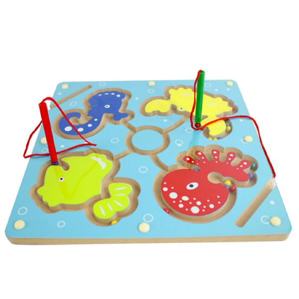 D602 Free shipping fancy wooden wooden toys Magnetic brush maze Parent-child hand-eye coordination game<br><br>Aliexpress