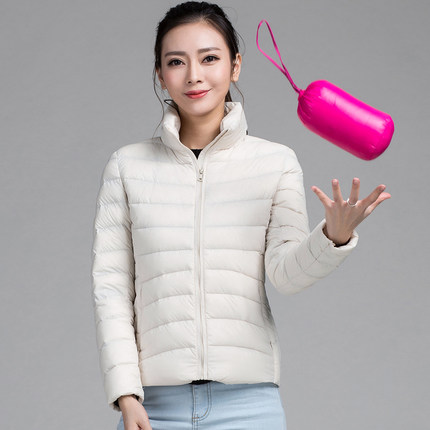 2015 New Designer Fashion Ladies Short Winter Overcoat Women Brand 90% White Duck Down Coat Jackets Plus Size XXXL Y0911-158D