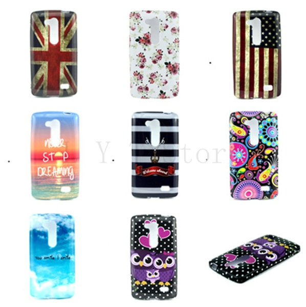 Hot Sale Retro Flag & Flowers Painting Soft TPU Cell Phone Cases Protective Shell Skin Cover For LG D295(China (Mainland))