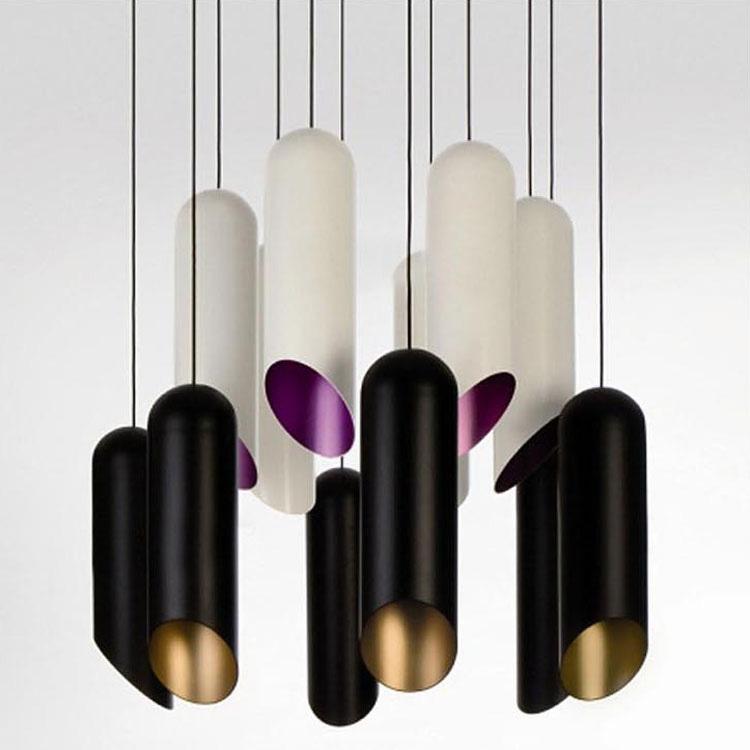indoor opknoping verlichting Aluminium Zwart/Wit Hanglamp Eetkamer ...