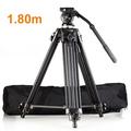Professional High Quality Aluminum Alloy EI717 1 8m 6ft Video Camera Tripod Fluid Pan Head Portable