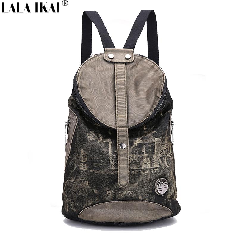 Fashion Woman Backpack Casual Travel Bag School Back Large Capacity Women Vintage Denim Black BWE0184 - Styles Station Bar Store store