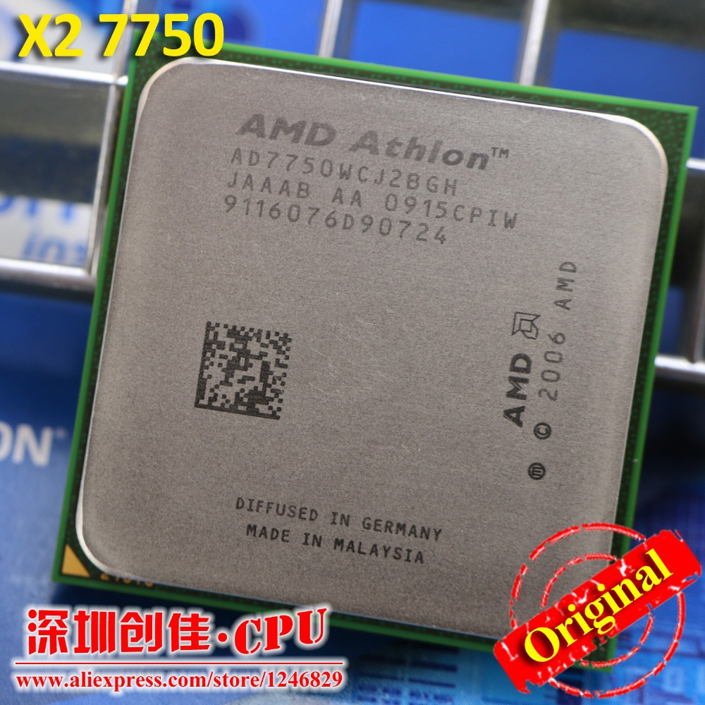 Free Shipping AMD Athlon 64 X2 7750 2.7GHz Socket AM2+ 95W Dual-Core Processor 64-bit Computing scattered pieces 6000 5200 6000+(China (Mainland))