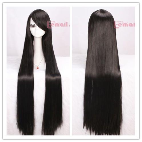 Japanese Anime Long Black Straight Cosplay Hair Wig ML120<br><br>Aliexpress