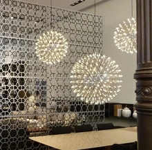 Stainless Steel Pendant Light LED Firework Light Ball Moooi Raimond Restaurant Living Room 110-240V(China (Mainland))