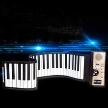 Kingtoy New Instrumentos Musical toys 61 key Professional Roll Up Piano(China (Mainland))