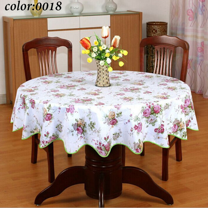 1 Pastoral style wave table cloth anti hot PVC plastic table cloth for Round table home hotel table cover decoration waterproof(China (Mainland))