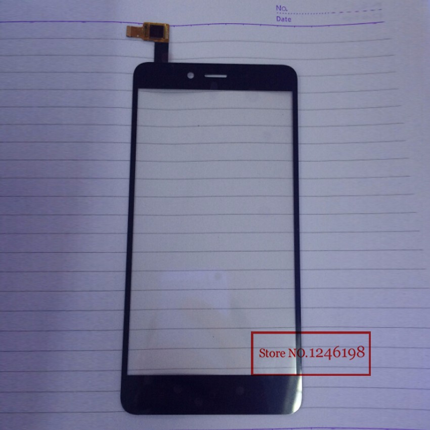 Black TOP Quality Xiao Mi Front Glass Touch Screen Digitizer For Xiaomi Hongmi Note 2 Redmi Red Rice Note2 Parts Free Shipping