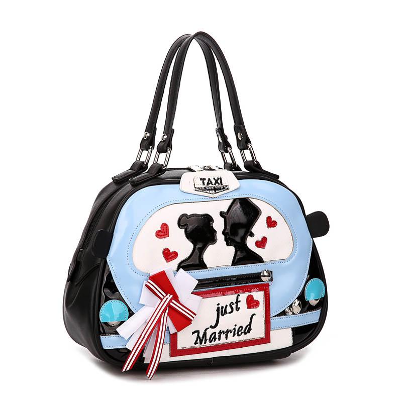 Braccialini style bag handmade taxi lovers valentines  bag ladies bag women handbag sac a main borse di marca bolsa feminina<br><br>Aliexpress