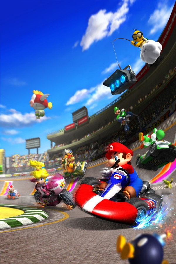 HOT Cartoon Super Mario Kart Wii Game Poster Silk Fabric Poster Print Great Pictures On The Wall For Home Decoration(China (Mainland))