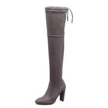DoraTasia marke neue frauen schuhe frau stiefel große größen 33-46 herbst winter über knie stiefel high heels sexy party stiefel frauen(China)