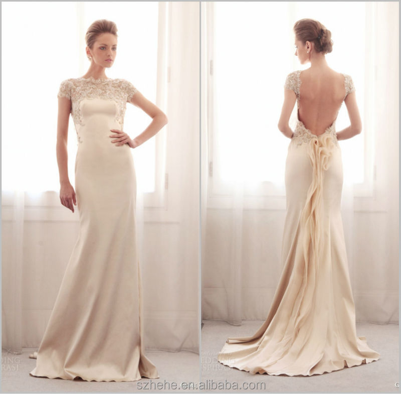 Buy new arrival jm bridals cw2218 elegant for Lace sleeve backless wedding dress