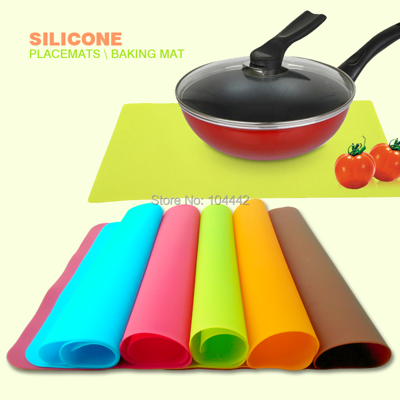 Baking Pans Silicone Mat 100% Square Silicone Pad Table Mats Grill Pad Jelly Fondant DIY Silicone Kitchen Tools(China (Mainland))