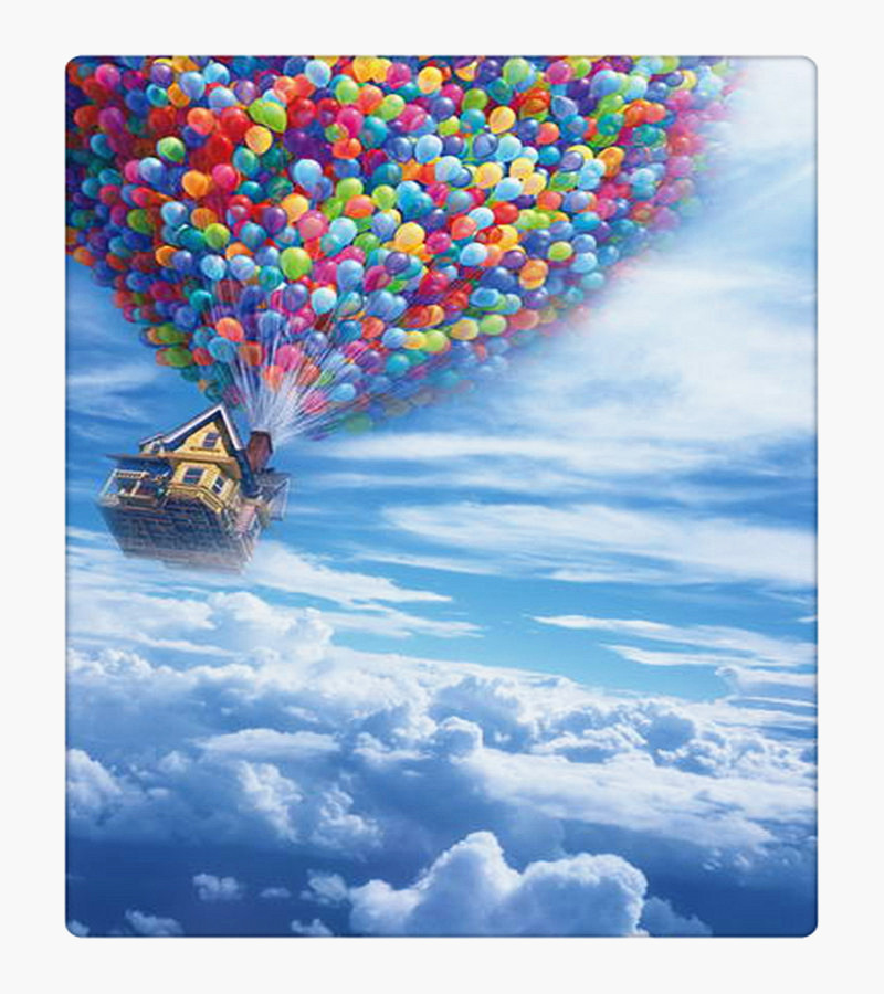 Colorful Balloon Up in the Blue Sky Film Scenic Photography Background Newborn Digital Printed Photo Backdrop for Studio Custom(China (Mainland))