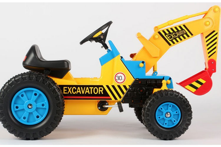 125*50*60 Large size car toy High imitation educational kids toys Manual power movable baby riding excavator ABS engineering Car(China (Mainland))