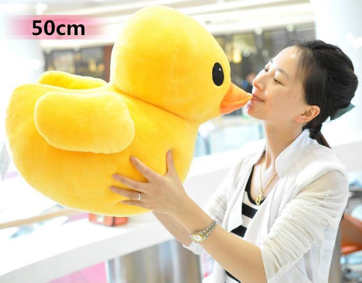 CreateHK Big Yellow Duck The Animal,1pc 50cm Plush Stuffed Animal Toy(China (Mainland))