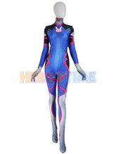 2016 D VA Costume Female/Women/Girls/Lady Halloween Cosplay Zentai Catsuit Custom Lycra Spandex - superhero zentai suit store