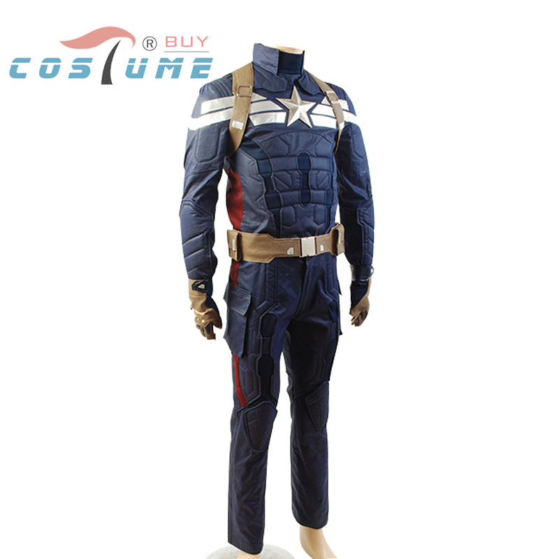 Captain America 2: Winter Soldier Steve Rogers Adult Uniform Outfit Top Pants Movie Halloween Cosplay Costume For Men(China (Mainland))