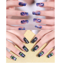 2Sheets Fashion Nail Design Water Transfer Nails Art Sticker Nail Wraps Sticker Watermark Fingernails Decals