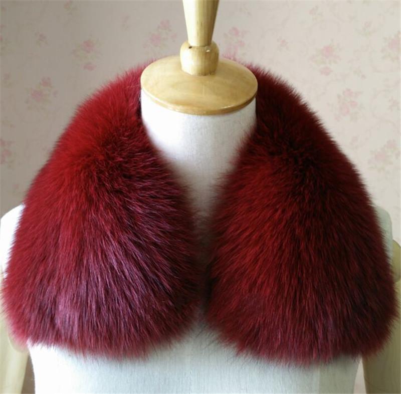 Multiple Colour Real fox Fur Collar Scarf Womens Shawl Wraps Shrug Neck Warmer Stole Wholesale(China (Mainland))