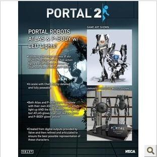 NECA Portal 2 PORTAL2 Atlas P-body can glow