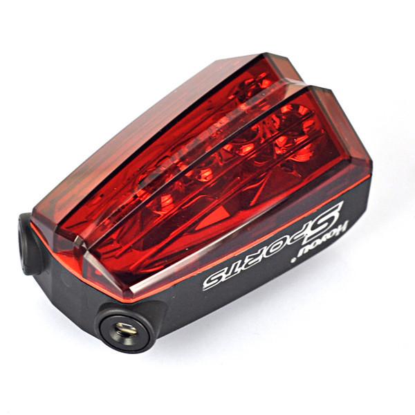 hotest 5 led + 11 режим хвост заднего безопасности предупреждение мигает велосипедов фонарик света велосипед аксессуары для велосипеда по 2 * aa для езды на велосипеде верхом