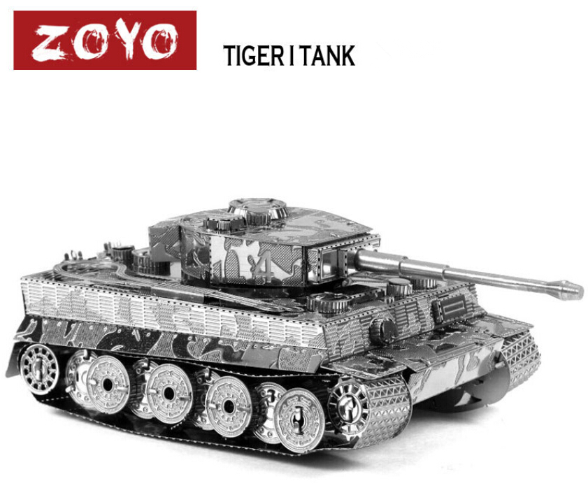 1 Piece Metal Works DIY 3D Laser Models / Assemble Miniature Metal 3D Model,Metallic Nano Puzzle-Tiger I Tank(China (Mainland))