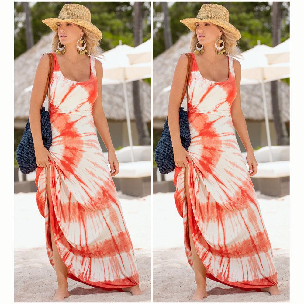 Women's dress sexy dress 2016 New Arrivals Bohemia print Women floor length dress(China (Mainland))