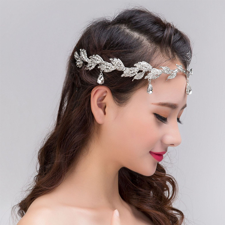 2016 Tiaras fashion new products Hot Korean frontlet eyebrows fall headdress married Crown diamond bridal jewelry gift woman(China (Mainland))