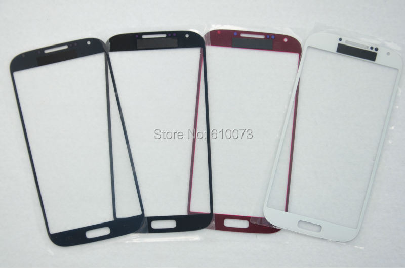 Blue White Red Black Replacement LCD Screen Glass Lens Samsung Galaxy S4 S IV i9500 i9505 i337 10PCS/Lot Free Shipping(China (Mainland))