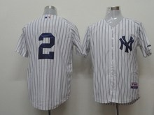 Free Shipping Stitched #2 Derek Jeter Jersey Authentic Baseball Jersey W/3000 Hits Patch Embroidery and Sewing Logos(China (Mainland))