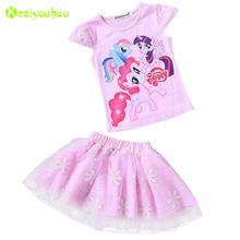 Buy KEAIYOUHOU Children Clothes 2017 Summer Kids Girls Clothes Set T-Shirt+Tutu Skirt 2pcs Girl Sport Suit Toddler Girl Clothing Set for $6.35 in AliExpress store