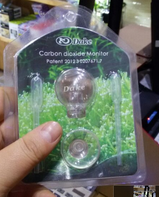 DAKE transparent crystal glass aquarium supplies CO2 monitor carbon dioxide detector(China (Mainland))