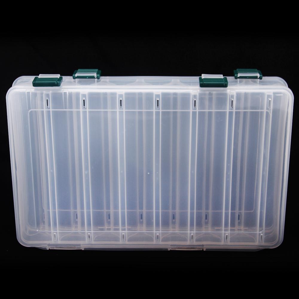 Plastic Portable Fishing Tool Accessory Box 27cm*18cm*4.7cm Trulinoya Fishing Box Fishing Lures Hooks Plastic Baits Tackle Box(China (Mainland))