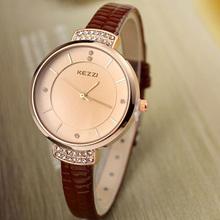1pcs/lot High Quality KEZZI Brand Leather Strap Watches Women Dress Watch Waterproof Ladies Quartz Watch XMHM439