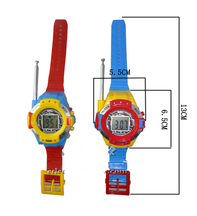 Hot sale 2016 new Communication Toy Watch Walkie Talkie for Children Kids Gift Durable Handheld Open Area Two-Way Radio Fun(China (Mainland))