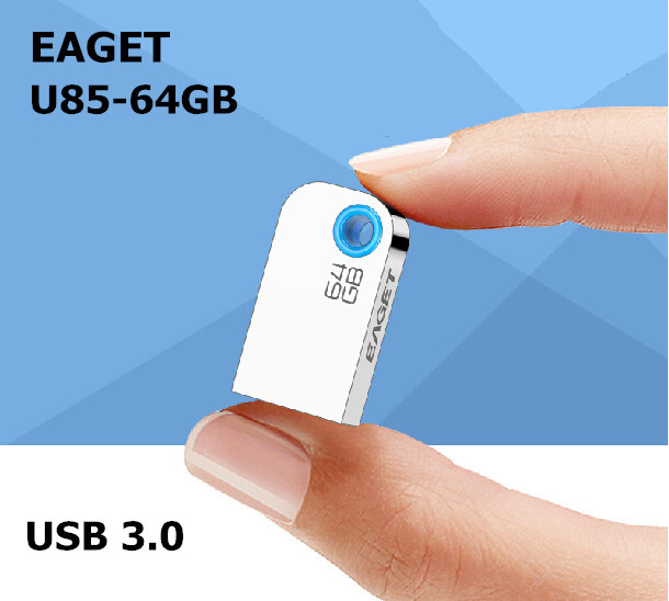 EAGET U85 USB 3.0 100% 64GB USB Flash Drives 2015 Fashion Mini High Speed Metal Waterproof Usb Stick Pen Drive Free shipping(China (Mainland))