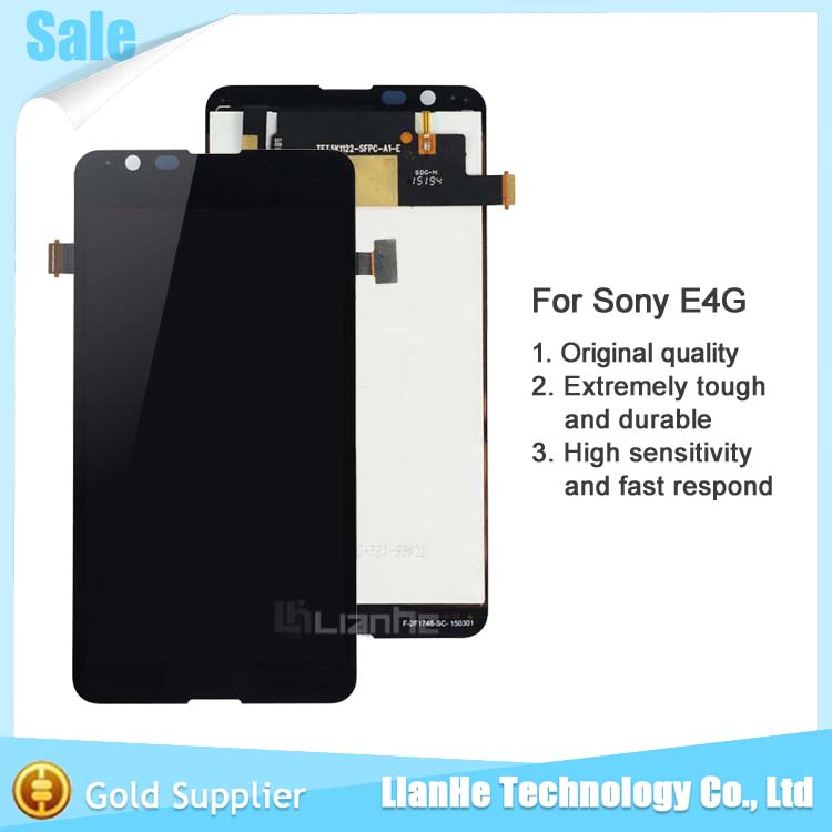 Lcd Screen For Sony E4g E2033 LCD Screen Display and Touch Screen Digitizer assembly Free Shipping(China (Mainland))